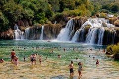 Krka national park in Croatia Royalty Free Stock Photography