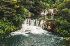 Krka National Park - waterfall Skradinski buk Royalty Free Stock Image