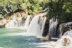 Krka National Park - waterfall Skradinski buk Stock Photos