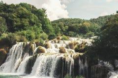 Krka National Park - waterfall Skradinski buk Royalty Free Stock Photos
