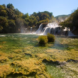 Krka National Park waterfalls in Croatia Stock Photography