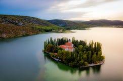 Krka nationalparkKroatien royaltyfria foton