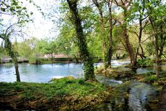 Krka nationalparkKroatien Arkivfoto