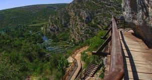 Krka nature park trail stock video