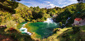 Krka panorama lookout Royalty Free Stock Photography