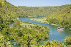 Krka river Stock Image