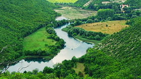 Krka river flow Stock Images