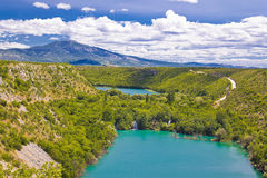 Krka River National Park Canyon Stock Photography