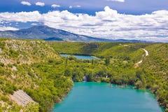 Krka river national park canyon stock photography
