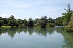 Krka river, Otocec, Slovenia Royalty Free Stock Image