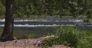 Krka river and the summer breeze stock footage