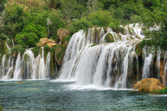 Krka river waterfalls in the Krka National Park Stock Photography