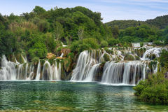 Krka river waterfalls in the Krka National Park, R