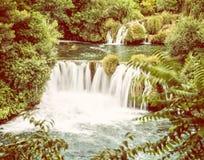 Krka siklawy, chorwacki park narodowy Zdjęcia Royalty Free