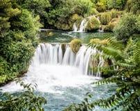Krka siklawy, chorwacki park narodowy Zdjęcia Stock