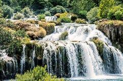 Krka siklawy, chorwacki park narodowy, Chorwacja Zdjęcie Stock