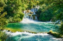 Krka siklawy (Krka park narodowy, Chorwacja) obrazy royalty free