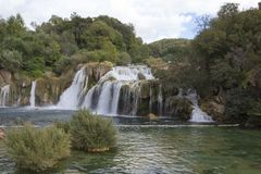 Krka siklawy w Chorwacja Fotografia Royalty Free