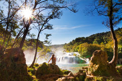 Krka sunshine Stock Image