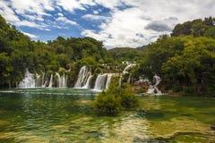 Krka Wasserfälle Stockbild