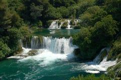 Krka Wasserfälle in Kroatien Stockfotos