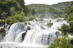 Krka-Wasserfall Lizenzfreie Stockfotografie