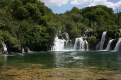 Krka waterfall stock photography