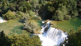 Krka Waterfall in croatia stock video footage