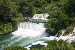 Krka waterfall in Dalmatia Stock Photography