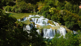 Krka waterfall Skradinski Buk Stock Photography