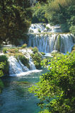 Picturesque scene of waterfalls in Krka National P Stock Image