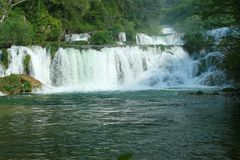 Krka waterfalls (Croatia) Royalty Free Stock Image