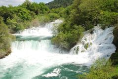 Krka waterfalls, Croatia Stock Photo