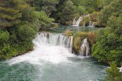 Krka waterfalls, Dalmatia, Croatia. Krka river waterfalls - UNESCO Natural World Heritage Site, Dalmatia, Croatia Stock Photos