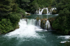 Krka waterfalls national park Royalty Free Stock Images