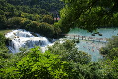 Krka waterfalls national park stock photography