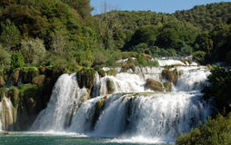 Krka waterfalls. Waterfalls on Krka river. Dalmatia, Croatia Royalty Free Stock Photos