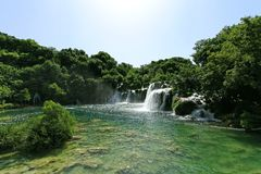 Krka waterfalls Royalty Free Stock Images