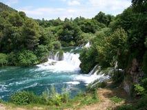 KRKA - watervallen Royalty-vrije Stock Afbeelding