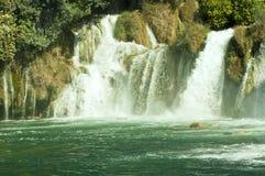 Krkawatervallen, het Nationale park van Kroatië Krka Stock Foto