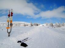 Krkonoše mountains - skiing path. Snow in CZECH REPUBLIC Royalty Free Stock Image