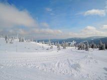 Krkonoše mountains - landscape. Krkonoše mountains - frozen trees. Snow in CZECH REPUBLIC Stock Photo