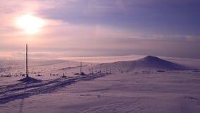 Krkonose在冬天 免版税库存图片