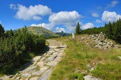Krkonose山,捷克,波兰 免版税图库摄影