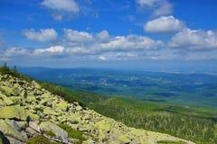 Krkonose山,捷克,波兰 库存照片