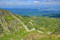 Krkonose山,捷克,波兰 免版税库存照片