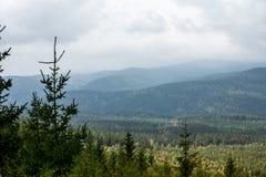 Krkonose berg nära Harrachov, Tjeckien arkivfoton