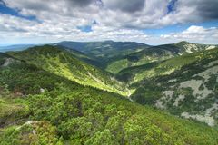 Krkonose mountains in Czech republic Royalty Free Stock Photography