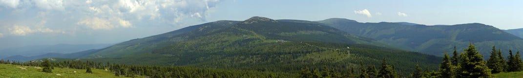 Krkonose Mountains panorama Royalty Free Stock Photo