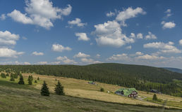Krkonose mountains in sunny summer day stock photo